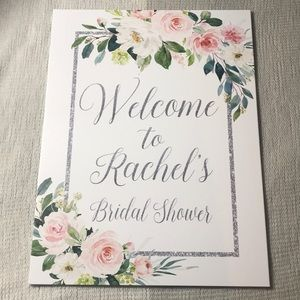 Custom Rachel's Bridal Shower Sign